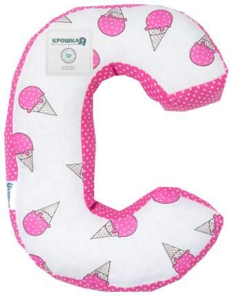 Подушка Крошка Я буква С 35х26 см, розовый