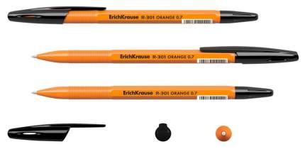 Шариковая ручка R-301 - Orange Stick, черная, 0.7 мм Erich Krause