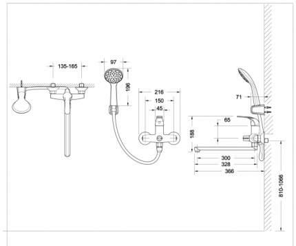 Смеситель для ванны BRAVAT F6135188CP-LB-RUS