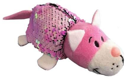Игрушка-вывернушка 1 TOY Блеск с пайетками плюшевая Кот Мышка 12 см