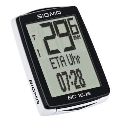 Велокомпьютер Sigma BC 16.16 черно-белый