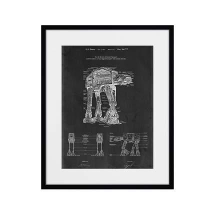 Картина Звездные войны, Шагающий слон, 2017г., 52 x 42 см, Картины в Квартиру