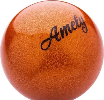 Мяч для художественной гимнастики Amely AGB-103 15 см, оранжевый, с насыщенными блестками