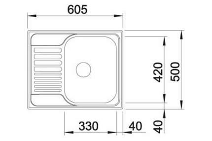 Мойка для кухни из нержавеющей стали Blanco tIPO 45S Mini 516524 нержавеющая сталь матовая