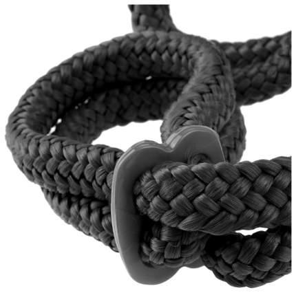 Веревочные оковы Pipedream Silk Rope Love Cuffs черные