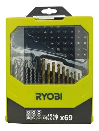 Наборы бит и сверл для дрелей, шуруповертов Ryobi RAK69MIX 69PCS MIXED ACC KIT