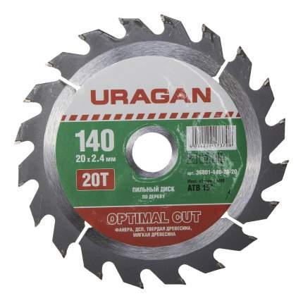 Диск по дереву для дисковых пил Uragan 36801-140-20-20