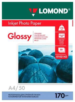 Фотобумага для принтера A4 Lomond 170г/кв.м односторонняя глянцевая 50 л