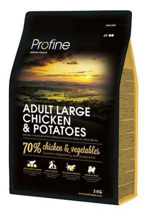 Сухой корм для собак Profine Adult Large Chicken & Potatoes, курица, картофель, 3кг