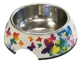 Одинарная миска для кошек и собак Super Design, металл, разноцветный, 0.16 л