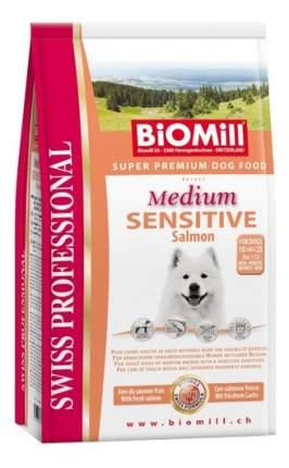 Сухой корм для собак BIOMILL Swiss Professional Medium Sensitive Salmon, лосось, 12кг