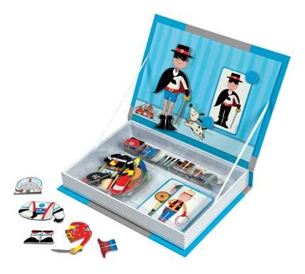 Настольная игра Janod Магнитная книга-игра Мальчишки в костюмах