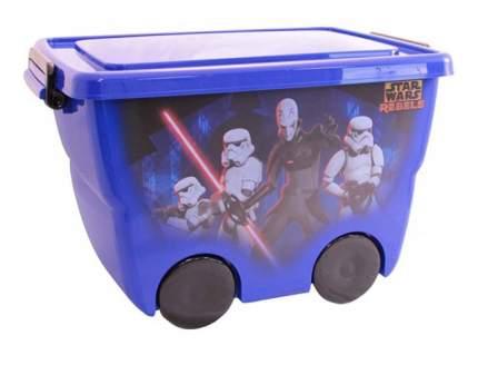 """Ящик для хранения игрушек М-пластика """"Звездные Воины"""" синий"""