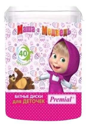 Ватные диски детские Premial Ватные диски для детской гигиены 40 шт.
