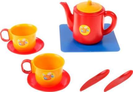 Посуда для кукол Пластмастер 21002 Набор чашек с чайником