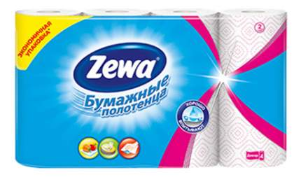 Бумажные полотенца Zewa декор 4 штуки