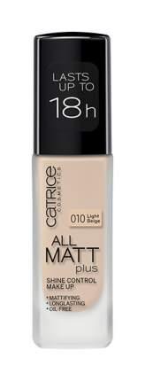 Тональный крем CATRICE All Matt Plus Shine Control Make Up Light Beige №010 30 мл