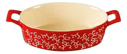 Форма для запекания овальная, 30х16х7 см, красная