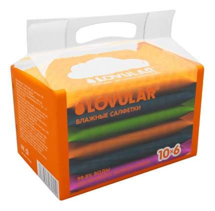 Детские влажные салфетки LOVULAR 6х10 шт.