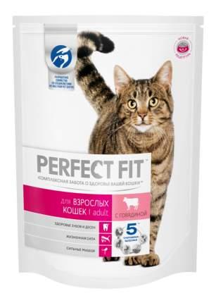 Сухой корм для кошек Perfect Fit Adult, говядина, 10шт по 650г