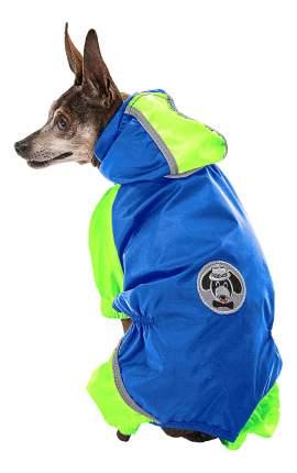 Дождевик для собак Ferplast Sporting Blue размер 3XL унисекс, синий, зеленый, спина 50 см