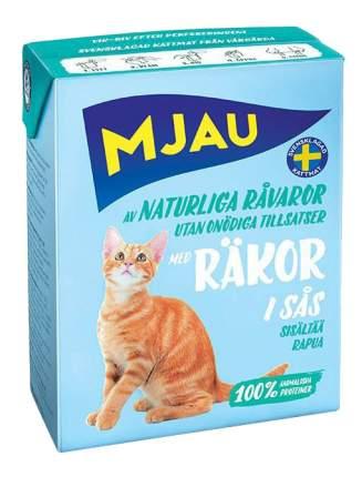 Влажный корм для кошек Mjau Chunks in Sauce, мясные кусочки в соусе с креветками, 380г