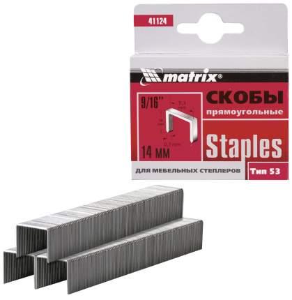 Скобы для электростеплера MATRIX 41124