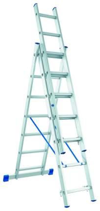 Лестница, 3 х 8 ступеней, алюминиевая, трехсекционная // СИБРТЕХ // Pоссия 97818