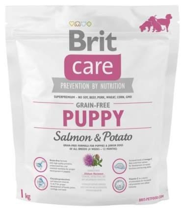 Сухой корм для щенков Brit Care Puppy, лосось, картофель, 1кг
