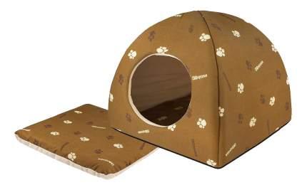 Домик для кошек Дарэлл 36х36х35 см коричневый