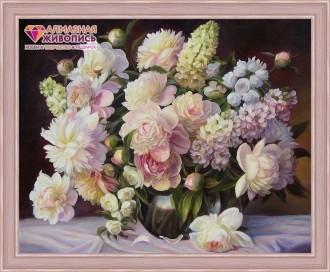 Алмазная живопись Пышный букет 50 х 40 см АЖ-1509