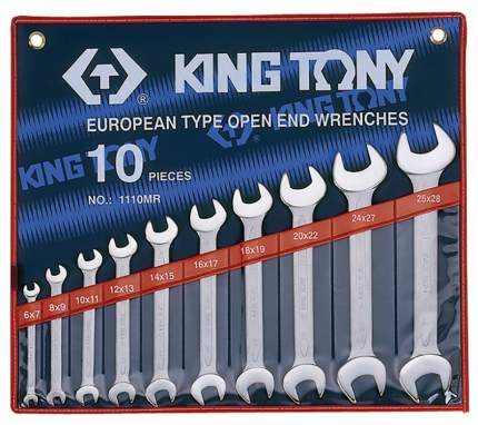 Набор рожковых ключей KING TONY 1110MR