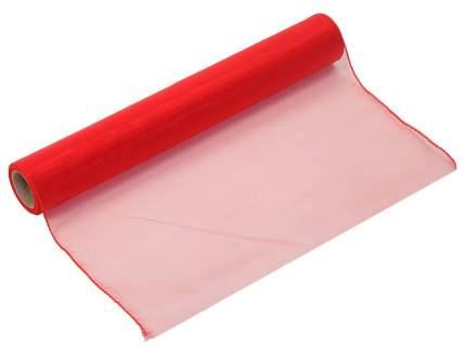 Ткань для декорирования красная10*0.4 м однотонная органза 184010R