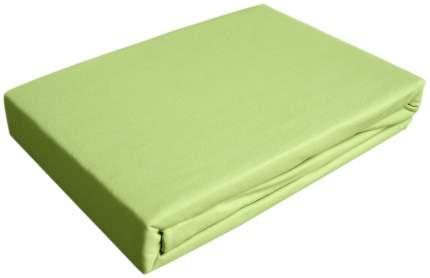 Простынь трикотаж на резинке Ol-tex 200х200 светло-зеленая