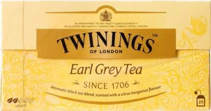 Чай черный Twinings earl grey с ароматом бергамота 25 пакетиков