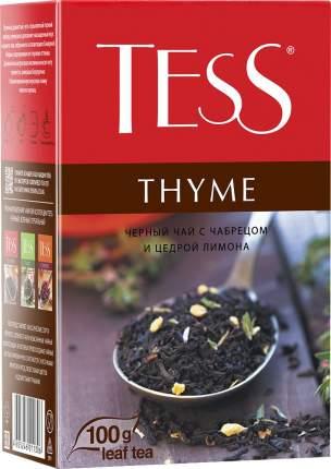 Чай черный Tess Thyme с чабрецом и цедрой лимона 100 г