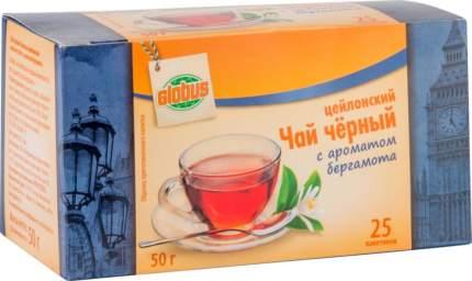 Чай черный Глобус цейлонский с ароматом бергамота 25 пакетиков
