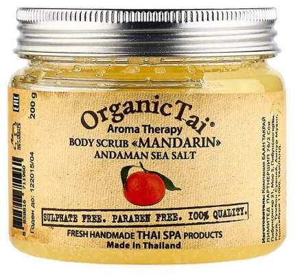 Скраб для тела Organic Tai на основе соли Андаманского моря Мандарин 200 мл