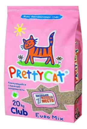 Комкующийся наполнитель для кошек PrettyCat Euro Mix бентонитовый, 20 кг, 80 л