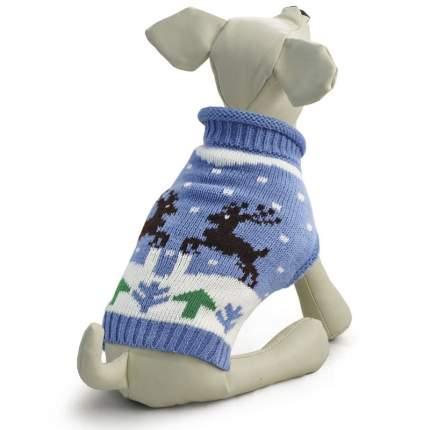Свитер для собак Triol размер M унисекс, голубой, длина спины 30 см