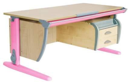 Парта Дэми СУТ 15-04Д2 с двумя двухъярусными задними приставками Розовый 120 см