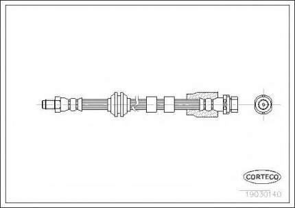 Шланг тормозной Corteco 19030140