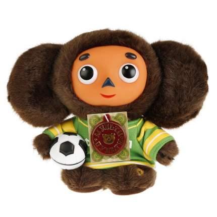 Мягкая игрушка Мульти-Пульти Чебурашка-футболист 17 см корич мех пласт мордочка