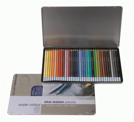 Акварельные карандаши Royal Talens Van Gogh 36 цветов