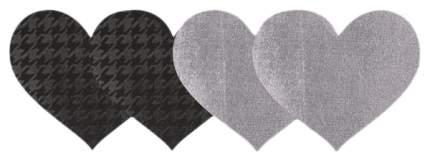 Серебристые и черные с рисунком пэстисы Erotic Fantasy сердца PRIVATE PLANE