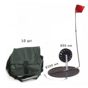 Комплект жерлиц в сумке диаметр круга 200 мм, диаметр катушки 63 мм