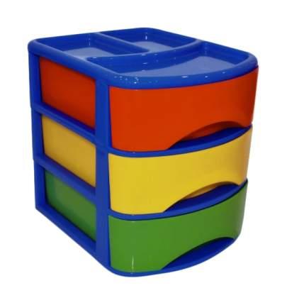 Ящик для хранения Plast team COMBI, 3 отделения, 17х21х20см