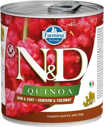 Влажный корм для собак Farmina N&D Quinoa, оленина и кокос, 285г