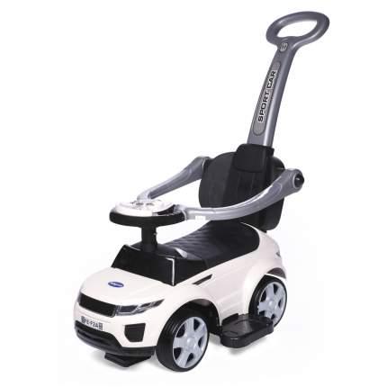 Каталка Baby Care Sport car с резиновыми колесами белая