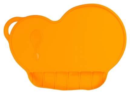 Коврик силиконовый для кормления, антискользящий, цвет оранжевый  Mum&Baby